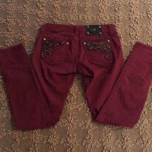 Woman's Michael Kors Burgundy Skinny Jeans